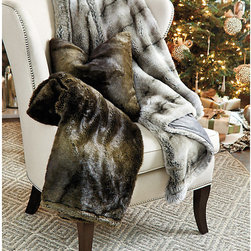 Ballard Designs - Faux Fur Throw - Pair with our Faux Fur Pillows. Available in two rich colors. Acrylic. Buy two and give one to yourself, you deserve it. Our Faux Fur Throw is so incredibly plush and silky, it's hard to believe it's faux. Backside is lined in, breathable sheered poly that coordinates with the fur tone. Faux Fur Throw features: . . .