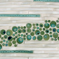 Mangrove Bay Art Tile - Bamboo and Bubbles Tile - Jennifer Kerrr-Marsch