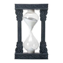 Summit - Celtic Swirl Design Square Framed Dark Tone White Sand Timer - This gorgeous Celtic Swirl Design Square Framed Dark Tone White Sand Timer has the finest details and highest quality you will find anywhere! Celtic Swirl Design Square Framed Dark Tone White Sand Timer is truly remarkable.