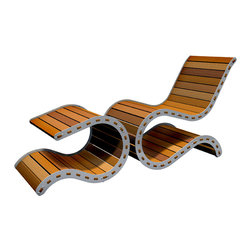 "EllingWoods Design - Modern Chair & Ottoman - ""Washboard"" - The Wave chair has evolved into a wide selection of indoor and outdoor chairs and ottomans that all share the same profile but utilize different materials and construction methods. Our seating is crafted with the highest quality furniture grade materials."