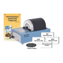 Lortone - Lortone 3A Rotary Rock Tumbler Kit Multicolor - 1-0609K - Shop for Craft Supplies from Hayneedle.com! Get professional results and immediate fun right out of the box with our most popular rock tumbler starter kit. The Lortone 3A Rotary Rock Tumbler has a molded-rubber barrel and 3-pound capacity. This kit comes with pre-measured abrasive grits (#80/coarse 220/medium and 600 pre-polish) plus the Micro Alumina polishing compound and 4-ounces of plastic pellets enough to finish 8-10 pounds of beautiful gems. Perfect for polishing rocks jewelry glass or beads. The Professional Gemstone Tumbling Guide is also included. About LortoneFor over 50 years serious lapidaries have considered LORTONE the standard for performance and durability. Located in Mukilteo Washington north of Seattle LORTONE has a long history of producing high value economical lapidary and jewelry equipment built to last for many years. Their tradition of using superior materials and workmanship continues using proven designs premium steel and quality construction. Whether you're active in cutting slabs or bookends polishing cabs deburring metals tumbling jewelry or beach agate consider adding a LORTONE product to your arsenal.