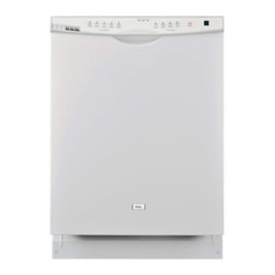 Haier - Haier Dishwasher SteamRite White - Tall Tub, Stainless Steel Interior|6 Wash Levels|5 Cycles, NSF Certified Sanitize Rinse|Adjustable Upper Rack|Nylon Racks|14 Place Settings|Hard Food Disposer|Stainless Steel Triple Filtration System|60 dBA|2 Fold-down Tines in Lower Rack|2 Fold-down Tines in Upper Rack|ENERGY STAR� Qualified|EcoWash Wash System|Child Lock|White  This item cannot ship to APO/FPO addresses.  Please accept our apologies.