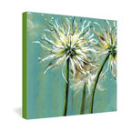 DENY Designs - Land Of Lulu Light Catchers Gallery Wrapped Canvas - An eye-level view of wispy dandelions lit by the sun makes you feel as if you were lying in the grass on a spring day. You can almost see the seeds of your wishes blow away in the warm breeze. Land of Lulu's painting is dye-printed onto canvas in vivid color with fade-proof, archival ink.