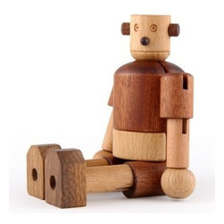 Eco Wooden Robot - I just love the paradox of a futuristic robot made out of all-natural wood. But more than that, this guy is a fun toy and fully pose-able for hours of adventures.