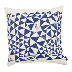 White Horse Home - Triangles Cushion Cover - This pillow cover gets an A+ for its pleasing geometric design. Use it to add a bold shot of color and pattern to your bed, sofa or reading chair. It's screenprinted using nontoxic water-based inks.