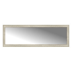 """Posters 2 Prints, LLC - 58"""" x 19"""" Libretto Antique Silver Custom Framed Mirror - 58"""" x 19"""" Custom Framed Mirror made by Posters 2 Prints. Standard glass with unrivaled selection of crafted mirror frames.  Protected with category II safety backing to keep glass fragments together should the mirror be accidentally broken.  Safe arrival guaranteed.  Made in the United States of America"""