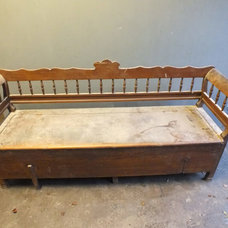 Smart Antique Pine Box Bench - Unrestored