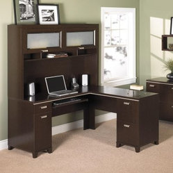 right pedestal has one letter-size file drawer and one storage cabinet ...