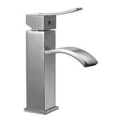 ALFI brand - ALFI brand AB1258 Single Lever Square Bathroom Faucet Polished Chrome - This Italian inspired faucet is designed with a cascading water flow, creating a romantic and welcoming atmosphere in any bathroom.
