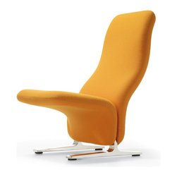 Artifort - Artifort Concorde - Unfortunately, he will never produce any more new designs, but his legacy contains many beautiful things, such as these armless lounge chairs, originally designed for the waiting room of the French Concorde aircraft after which they were named. They therefore represent perfect seating for waiting situations, but in the past they have demonstrated their suitability for use in living rooms all over the world as well.