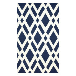 nuLOOM - Contemporary 5' x 8' Navy Hand Hooked Area Rug HK99 Trellis - Made from the finest materials in the world and with the uttermost care, our rugs are a great addition to your home.