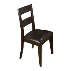 Jofran - Jofran Dark Rustic Prairie Conventional Height Ladder Back Side Chair [Set of 2] - Combining traditional details with modern designs, Jofran has a collection to compliment any home decor. This rustic prairie ladderback side chair belongs to 972 series - dark rustic prairie collection by Jofran inc. The classic formulas of color combinations are not valid in Jofran furniture territory: here is ruled by laws solely of your own preferences and fantasies. Huge selection of colors in combination with a wide choice of shapes and sizes allow you to find among this variety precisely the furniture you've always wanted to see in your home. Jofran furniture offers high quality, casual furniture pieces that are constructed from premium Asian hardwoods, and finished with beautiful veneers. Durable materials and quality assembly will help your furniture to serve for many years and will not let you be disappointed in your choice.