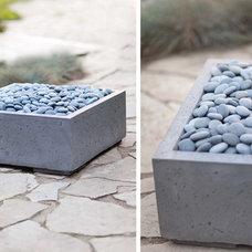 Contemporary Firepits by Dekko Concrete Decor