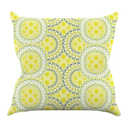 """Kess InHouse - Miranda Mol """"Blossoming Buds"""" Throw Pillow (18"""" x 18"""") - Rest among the art you love. Transform your hang out room into a hip gallery, that's also comfortable. With this pillow you can create an environment that reflects your unique style. It's amazing what a throw pillow can do to complete a room. (Kess InHouse is not responsible for pillow fighting that may occur as the result of creative stimulation)."""