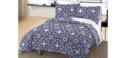 Amazon.com: Moroccan Geometric Tile Cotton Sateen Comforter and Sham Set: Home &