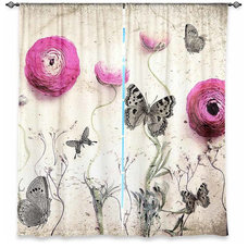 Contemporary Curtains by DiaNoche Designs