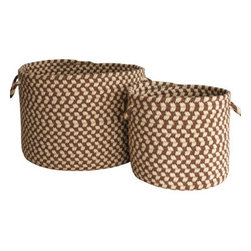 Braided Wool Baskets, Chocolate and Ivory - I love these baskets I found on High Street Market. I would love to have one next to my sofa holding a throw blanket!