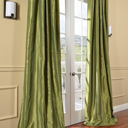 HPD's Exclusive Fern Faux Solid Taffeta Silk Curtains & Drapes - Your windows need some luxurious-looking drapes. These are off the rack and very affordable.