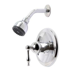 Premier Faucet - Premier 119276 Wellington Single-Handle Shower Faucet, Chrome - Premier offers stylish shower faucets that complement our Wellington kitchen and lavatory faucets by providing matching handle designs and brilliant finishes. Wellington's pressure balanced valve prevents cold water shock and hot water scalding due to une Teapot-style metal lever handle Ceramic disc cartridge Pressure balanced valve (single-handle models) Brass shower arm and flange Easy-to-clean showerhead