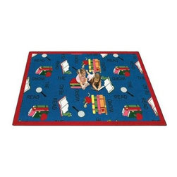 Joy Carpets Read the Word Kids Area Rug - This bright and cheerful Read the Word Carpet is perfect for any kids room. They'll love the fun colors along with the playful bookworm characters that encourage them to read God's word every day!Sizes available:3 feet 10 inches x 5 feet 4 inches5 feet 4 inches x 7 feet 8 inches7 feet 8 inches x 10 feet 9 inches7 feet 7 inches round10 feet 9 inches x 13 feet 2 inchesThis carpet features SoftFlex backing which is an air-texturized polypropylene secondary backing that's designed to withstand the most demanding situations. SoftFlex is woven tightly yet is still extremely flexible which helps eliminate wrinkles and provide superior protection and insulation underfoot.JoyTuff carpets are Stainmaster-protected and ideal for home or office use. They are constructed from Stainmaster BCF Type 6 6 two-ply nylon and feature advanced protection against stain and soil as well as Impervion mold and mildew protection. This carpet is bound and serged for maximum durability and features a SoftFlex back plus a Class I Flammability rating. To maintain simply vacuum regularly and use hot water extraction cleaning as required.This carpet includes the following warranties:Lifetime limited wear warrantyLifetime limited antimicrobial protectionLifetime limited static protection10-year limited dual technology soil and stain protectionDedicated to Environmental StewardshipJoy Carpets understands the importance of environmental stewardship and its relationship to a successful business. We are committed to operating our facilities in an environmentally sustainable manner and in a manner that protects the health and safety of our associates and the public.Our environmental commitment is driven by a holistic approach to sustainable operations not simply focusing on recycling alone. Joy Carpets reaches beyond recycling in an effort to reduce our company's environmental footprint. Our vision and progress to achieving the goal of full sustainability focuses on the following:Environmentally friendly productsReview of our products' supply chainExtending product life cycleUse of recycled packagingReducing waste to landfillReducing energy consumption and water usageUse of alternative energy sources'No carpet to landfill' commitmentRecycling carpet into new productsDonating carpet for charitable re-useAdditionally Joy Carpets is committed to establishing a strong foundation of environmental values with our families associates and communities to ensure the long-term conservation of our earth's natural resources.About Joy CarpetsJoy Carpets is the leader in specialty broadloom modular carpet Carpets and mats in creative and eye-catching designs. Joy takes pride in providing first-rate floor coverings for residential educational hospitality healthcare and commercial markets. The pioneer of fine gauge tufting Joy Carpets introduced the first recreational carpeting to the industry in 1973 and since that time has been known for their commitment to cutting edge technology and design. Joy Carpets are proudly made in the United States and sold worldwide. Choose Joy Carpets for superior service and unique fun products that enhance your decor and give you fantastic flooring in an instant.