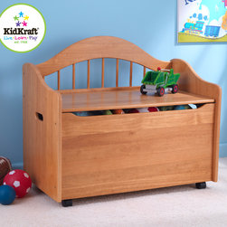 Kids Kraft - Kids Kraft Limited Edition Honey Colored Toy Box - Kids Kraft honey colored Toy Chest looks very beautiful in your drawing room. Your kids can put their toys in this toy box and also seat on that extra bench. It keeps your rooms very tidy with style and comfort. It has big convenient storage to keep all your kids toys in one place. It has also a Flip-top lid which gives safety hinge to protect your kids fingers from getting pinched. This toy box is also available in white, black, natural, cherry, honey and espresso color.