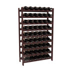 54 Bottle Stackable Wine Rack in Redwood with Walnut Stain - Three times the capacity at a fraction of the price for the 18 Bottle Stackable. Wooden dowels enable easy expansion for the most novice of DIY hobbyists. Stack them as high as you like or use them on a counter. Just because we bundle them doesn't mean you have to as well!