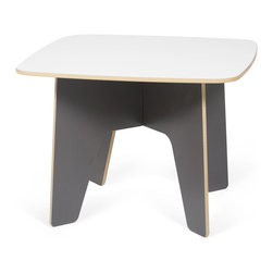 Quark Enterprises - Kids Table, Slate Gray/White - This looks like a fresh take on a folding table. Having a kids table that can be easily assembled for crafts or snack time and then hidden it away at the end of the day is great for any family. And you won't have to pull out the tool box to get it all done.