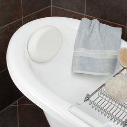 Oval Bath Pillow - White - The essential bath accessory, this lavish tub pillow features a soft cushion construction and a classic design. Simply place the attached suction cups to your smooth-walled tub for secure placement.