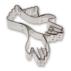 RM - Gloves 2.75 In. B0959 - Gloves cookie cutter, made of sturdy tin. Notice it's high detail with inset. Size 2.75 in., Depth 7/8 in., Color silver