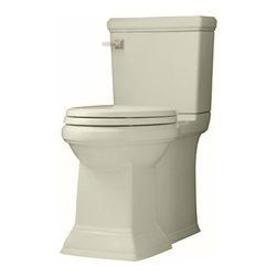 American Standard - American Standard Town Square FloWise Right Height Elongated Toilet - American Standard 2817.128.222 Town Square FloWise Concealed Trapway Right Height Elongated Toilet, Linen