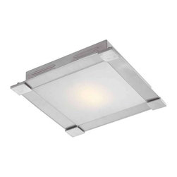 Access Lighting - Access Lighting Flush Mount, Brushed Steel - -Brushed Steel Finish