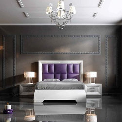 Sophie Collection. Queen bed. SET S49 - Queen bed. Nightstand with 2 drawers with soft closed.