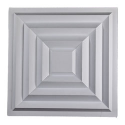 """Aristocrat Ceiling Tile - White - Perfect for both commercial and residential applications, these tiles are made from thick .03"""" vinyl plastic. Their lightweight yet durable construction make these tiles easy to install. Waterproof, these tiles are washable and won't stain due to humidity or mildew. A perfect choice for anyone wanting to add that designer touch at an amazing price."""