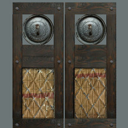 Custom Swinging Saloon Doors - Let's create a set of custom swinging doors unlike any you've ever seen! Reclaimed antique turned spindles? Vintage baking pans? Victorian ceiling tin? Old iron gears? Distressed painted finish? Convo me with your budget, dimensions, and thoughts, and I'll put together some options for you to consider.