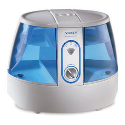 Kaz Inc - 2.0 Gallon UV Germ Free Humidifier - Vicks V790-N Germ Free Humidifier helps provide temporary relief from cough and congestion for better comfort. Also helps you breathe better and sleep more comfortably. UV technology kills up to 99.999% of bacteria mold fungus and virus in the water after 2 hours of continuous use. This provides the assurance that the moisture emitted from the unit is virtually free of germs.