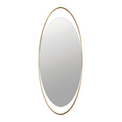 LeLoop Mirror - Baker Furniture - In lieu of sconces, Thomas Pheasant designed a pair of small mirrors for his dining room. Rather than adding light, they seemed to multiply it, and his guests have been smitten. The LeLoop is that idea - the concentric ellipse - translated to something bigger, better, and larger than life. The simplicity of the form shows off subtle metalwork. The dark hammered texture on the outer frame gives way to delicate rub-though creating an outline of sorts, only trumped by the changing depth of the rim itself.