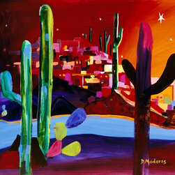Murals Your Way - Little Town in the Desert Wall Art - Painted by Diana Madaras, Little Town in the Desert wall mural from Murals Your Way will add a distinctive touch to any room