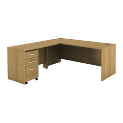 """BBF - Bush Series C 3-Piece L-Shape Computer Desk in Light Oak - Bush - Office Sets - WC60336PKG1 - Bush Series C 48"""" Return Bridge in Light Oak (included quantity: 1) The Bush Series C Return Bridge offers you a refined approach to expanding your workspace. This fine return bridge merges beautifully with any Bush Series C Desk and other Series C furniture to contribute to a powerful total package.  Features:"""