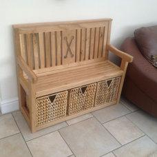 Euro oak bench