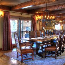 Farmhouse Dining Room by Maraya Interior Design