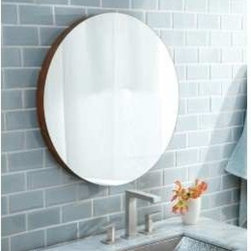 """KCK Bathroom Mirrors & Accessories - 22"""" Solace Mirror In Woven Strand - With its subtle use of bamboo, Solace projects a quiet strength and creates a sense of continuity- particularly when paired with Native Trails Renewal Series vanities. Solace is also perfect at home as the focal point in any contemporary room design. A detachable bamboo shelf, sold separately, add design flare and storage space. FSC certified wood. Low VOC finish. Width: 22"""""""