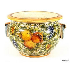 Artistica - Hand Made in Italy - Tuscania: Round Cachepot - Tuscania Collection: