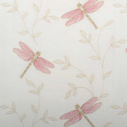 Highland Court - Libelle Fabric - Libelle from Highland Court collection - Silk Traditions Collection comes in three fresh color-ways, Flamingo, Oyster and Sea-foam.