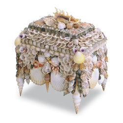 Currey and Company - Boardwalk Shell Jewelry Box - Interesting shell details with a lot of color. Natural shells make this unique box a treasure for any setting.
