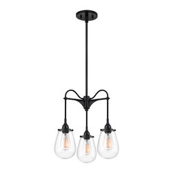"""Sonneman 4294.25 Chelsea Satin Black Pendant - Sonneman 4294.25 Chelsea Satin Black Pendant*Collection: Chelsea*Number of Bulbs: 3*Bulb Type: 60 Watt Medium Base*Bulb Not Included*Glass/Shade: Clear*Diameter: 15""""*Weight: 9*Voltage: 120V*Canopy Size: 5"""" Dia w/ Hang Straight*Safety Rating: UL Listed for Dry Locations"""