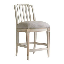 Stanley Furniture - Preserve-Marshall Counter Stool - The Chinese Chippendale motif and upholstered seat of a Marshall Counter Stool encourage lively conversation and lingering long after the meal.