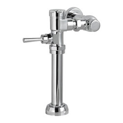 American Standard - American Standard 6047.161.002 Exposed Manual Flushometer, Chrome - This American Standard 6047.161.002 Exposed Manual Flushometer is part of the Additional Accessories collection, and comes in a beautiful Chrome finish. This exposed manual flush valve features a self-cleaning brass piston with integral wiper spring that prevents cloggin and reduces maintenance, a piston operation that delivers a superior flush accuracy and repeatability, a piston valve that remains closed and doesn't need to be reset after a loss of water pressure, a non-hold open handle, a positive seal that ensures the leak-free performance, a durable chrome-plated cast brass construction, a chloramine-resistant EPDM seals, and an adjustable tailpiece for Rough-in flexibility.