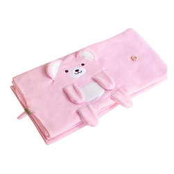 "Blancho Bedding - Happy Bear - Pink Embroidered Coral Fleece Baby Throw Blanket  42.5""-59.1"" - The Embroidered Applique Coral Fleece Baby Kids Throw Blanket measures 42.5 by 59.1 inches. Whether you are adding the final touch to your bedroom or rec-room, these patterns will add a little whimsy to your decor. Machine wash and tumble dry for easy care. Will look and feel as good as new after multiple washings! This blanket adds a decorative touch to your decor at an exceptional value. Comfort, warmth and stylish designs. This throw blanket will make a fun additional to any room and are beautiful draped over a sofa, chair, bottom of your bed and handy to grab and snuggle up in when there is a chill in the air. They are the perfect gift for any occasion! Available in a choice of whimsical kid-friendly prints to spark the imagination, the blanket is durable enough to look great on the go."