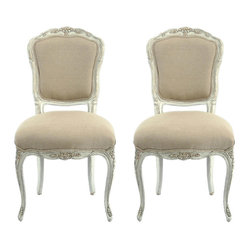 Provence Antiqued French Side Chairs