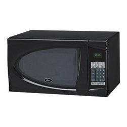 OSTER - OSTER AM930B .9 Cubic-ft, 900-Watt Countertop Microwave - � .9 cu ft capacity;� 900W;� 10 adjustable power levels;� 1-touch cook settings for potato, popcorn, pizza, beverage, frozen dinner & reheat;� Defrost function;� Digital clock;� Cooking timer;� Child safety lock ;� Black